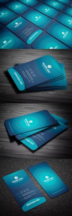 Blue Modern Business Card Template PSD