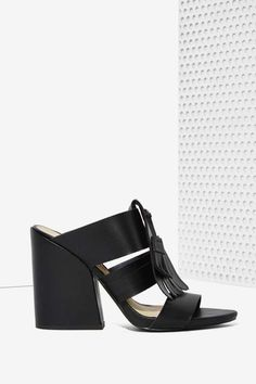 Vevey Vegan Leather Mule - Black