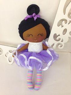 Ballerina Handmade Doll Fabric Dolls Soft Dolls by SewManyPretties, $46.00 #ballerina #ballerinaparty #balletgift