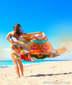silk sarong pareo wrap maxi skirt long by BohemianSilkScarves