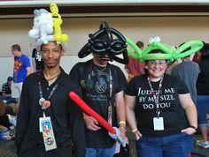 R2D2/C3PO, Darth Vader and Yoda balloon Hats at Star Wars Celebration V by LeeRoy Holmes, via Flickr