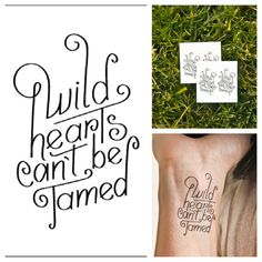 Wild Hearts temporary tattoo Set of 2 by Tattify on Etsy from Tattify. Saved to Epic Wishlist. Tattoo Kits, I Tattoo, Tattoo Quotes, Tattoo Ideas, Wild Heart Tattoo, Ink Addiction, Baby Oil, Piercing Tattoo, Wild Hearts
