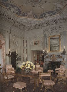 Morning Room at #TheBreakers. All the wall decoration - pilasters, cornices, panels - were created by Allard and sons. #historic #mansions #mansion #gildedage #art #architecture #luxury #interiordecoration  #interiordesign #decor #julesallard #RhodeIsland #Newport