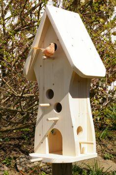 *Vogelhaus zum Selbstbemalen* *Unbemalt*  Sinnvolle und nutzvolle Dekoration für Ihren Garten,Balkon,Terrasse.  Aus gehobeltem Fichtenholz in sorgfälltiger Handarbeit hergestellt.  *Tolle...