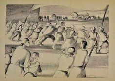 O CONFRONTO – Desenho de Álvaro Cunhal (1913-2005) executado na prisão.