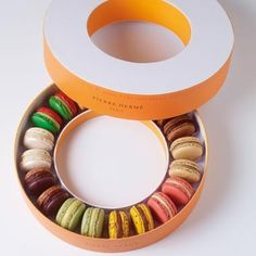Pierre Herme packaging - I want to eat the very best macarons in the World! Where To Buy Macaroons, Macarons, Pretty Packaging, Flyer, Brand Packaging, Product Packaging, Packaging Company, Packaging Services, Packaging Design Inspiration