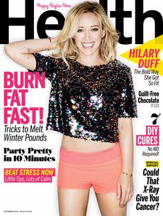 Hilary Duff looks healthy and beautiful on the cover of Health magazine!