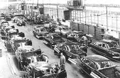 Golgi Apparatus : the assembly line is moving each car to the next step, like an organelle that modifies, stores, and routes proteins and other chemical products to their next destination. Bratislava, Ambulance, Warsaw Pact, Assembly Line, Mini Trucks, The Next Step, Limousine, All Cars, Motor Car