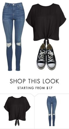 """Funfriday"" by melw44 ❤ liked on Polyvore featuring Topshop and Converse"