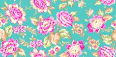Aqua floral at Joann Fabric and Craft Store 2015