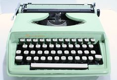 Vintage Remington Holiday Typewriter - Seafoam Green - 1963