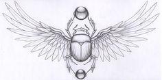Risultati immagini per beetle egyptian tattoo Egyptian Beetle, Egyptian Scarab, Egyptian Art, Kunst Tattoos, Body Art Tattoos, Tattoo Drawings, Sleeve Tattoos, Anubis Tattoo, Chest Tattoo