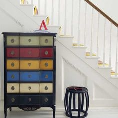 love the painted chest of drawers
