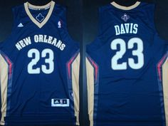 New Orleans Pelicans #23 Anthony Davis Revolution 30 Swingman Navy Blue Jersey