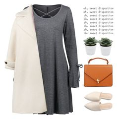 Simple outfits are the best by chantellehofland on Polyvore featuring Olympia Le-Tan and M&Co