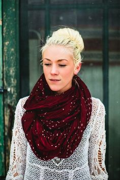 The 'Olivia' Batik Sheer Cotton Scarf