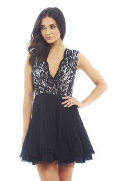 Ax paris lace smock dress