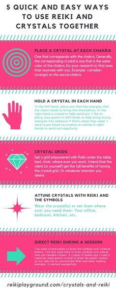 5 Quick and Easy Ways to Use Reiki and Crystals Together | Reiki crystals | crystal healing | reiki healing