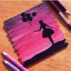 Painted Popsicle Sticks Create tiny works of art by painting on a square of popsicle sticks.
