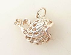 Vintage Sterling Blow Fish Pendant by MindiLynJewelry on Etsy, $14.00