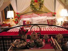...także sypialnia w świątecznym klimacie :)