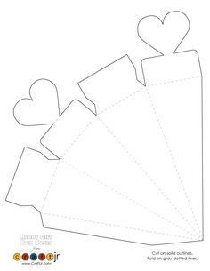 Heart Cone Box Template