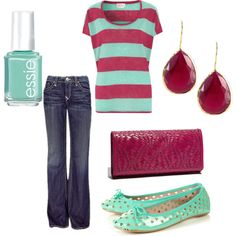Maroon and Teal, created by stephanie-cardwell on Polyvore