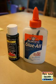 * Black Glue and Watercolor Resist: How To Make Black Elmer'sGlue