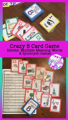 synonym gambling card printable games
