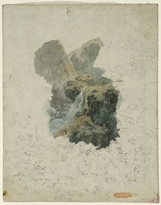 Joseph Mallord William Turner 'A Waterfall among Rocks', c.1792