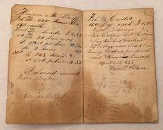 1840's Hand Written General Ledger Seth Thomas Horace Booth Genealogy Boston MA  | eBay