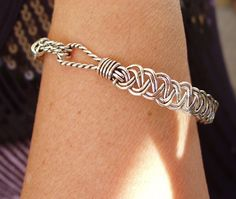 Bracelet Braided Silverplated wire by wiredesignbydanilo on Etsy