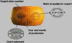The marks of Parmigiano Reggiano! http://www.parmigianoreggiano.com/english/made/application_marks_origin_2.aspx