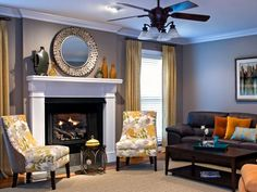 Designer Kristen Pawlak creates the right scale and color palette for a challenging living room space.