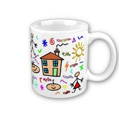 Kid Art Coffee Mugs from Zazzle.com