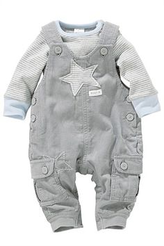 Newborn Pants - Baby Pants and Infantwear - Next Cord Dungarees And Bodysuit Set