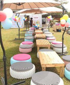 Wedding reception outdoor idea. Add your wedding colors to this idea! #wedding #outdoor #reception