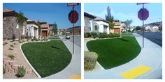 Many of you asked how EasyTurf holds up over the years. Answer is great! Check out this installation from 10 years ago! To the right is what the installation looks like today and we have to say it still looks amazing. What do you think? www.easyturf.com   l artificial turf l fake grass l front yard l curb appeal l 10 years l outdoor living