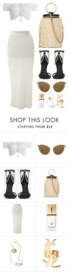 """""""Untitled #589"""" by mimiih ❤ liked on Polyvore featuring Ahlem, Yves Saint Laurent, Whistles, GF Ferré, Rosie Assoulin, Chanel, Dior, saintlaurent, gucci and GalvanPalacio"""