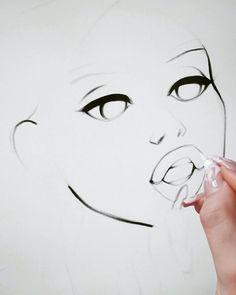 Fantasy Drawings, Anime Drawings Sketches, Digital Painting Tutorials, Digital Art Tutorial, Software Art, Digital Art Beginner, Body Drawing Tutorial, Art Drawings Beautiful, Coloring Tutorial