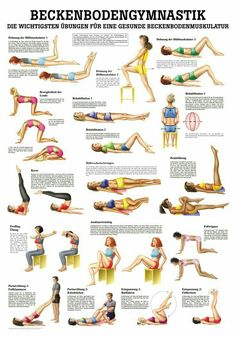 Beckenbodengymnastik Yoga Yogamatten 038 Yoga-Zubeh r Beckenbodengymnastik Yoga Yogamatten 038 Yoga-Zubeh r Janina Ka janinakandziora Baby und Kind Beckenbodengymnastik R diger AnatomieBeckenbodengymnastik Poster nbsp hellip workout deutsch Fitness Workouts, Yoga Fitness, Fitness Motivation, Health Fitness, Body Workouts, Le Pilates, Pilates Reformer, Pilates Workout, Pilates Ring