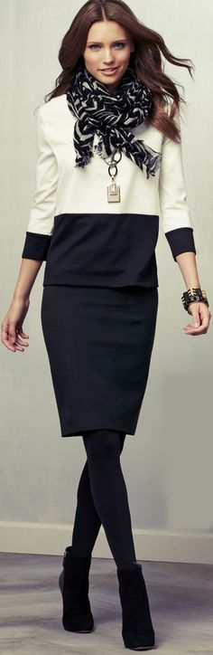 #Ann Taylor Lookbook November 2012 Leather Skirts #2dayslook #fashion #LeatherSkirts www.2dayslook.com Office Attire, Office Outfits, Work Attire, Work Chic, Fashion Moda, Womens Fashion, Office Fashion, Work Fashion, Taylor White