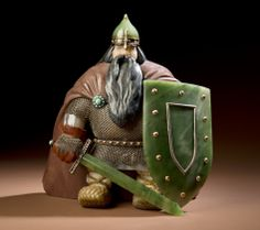"Emigre Artist Sculpted Exquisite Gems Of Russian Folk Life : NPR - Vasily Konovalenko ""Warrior"""
