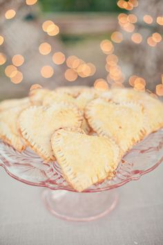 Heart-shaped hand pies | View entire slideshow: 15 Mouthwatering Wedding Desserts on http://www.stylemepretty.com/collection/341/ | Photography: Heather Kincaid - heatherkincaid.com