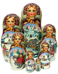 GreatRussianGifts.com - Horse Riding Nesting Doll Turquoise 7 Piece Set, $669.95 (http://www.greatrussiangifts.com/horse-riding-nesting-doll-turquoise-7-piece-set/)