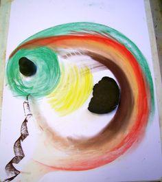 klei en pastelkrijt intuitief samenwerken 3