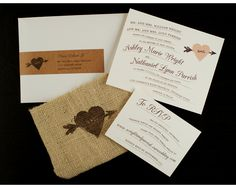 In love with these wedding invitations!