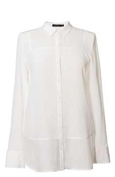 Trouvé Tonal Panel Silk Shirt | Nordstrom