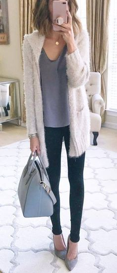 outfit of the day | cardigan   top   bag   skinnies   shoes