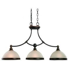 Sea Gull Lighting Warwick 3-Light Vintage Bronze Pendant-66330-825 at The Home Depot